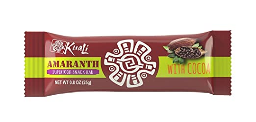 Amazon.com: Kuali Amaranth Bars with Cocoa (12 Pack) Ancient Grains Bars - Amaranth Superfood Snack Bars - Barras de Amaranto - Alegria -Vegan - Gluten Free ...