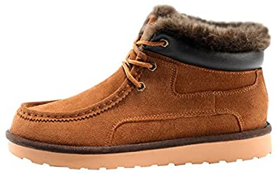 Amazon.com | Rock Me Women's Thicker Wool Leather Flat
