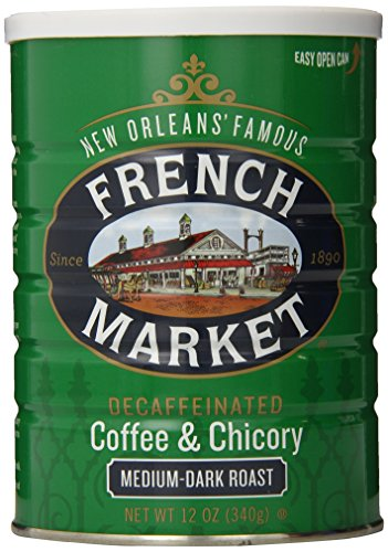 French Market Coffee, Coffee & Chicory, Decaffeinated Medium-Dark Roast Ground Coffee, 12 Ounce Metal Can (Best Crawfish In Seattle)