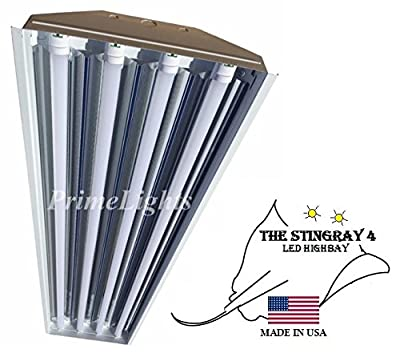 4 Bulb / Lamp T8 LED HighBay Utility Shop Garage Warehouse Light Fixture 11,000 LUMENS!