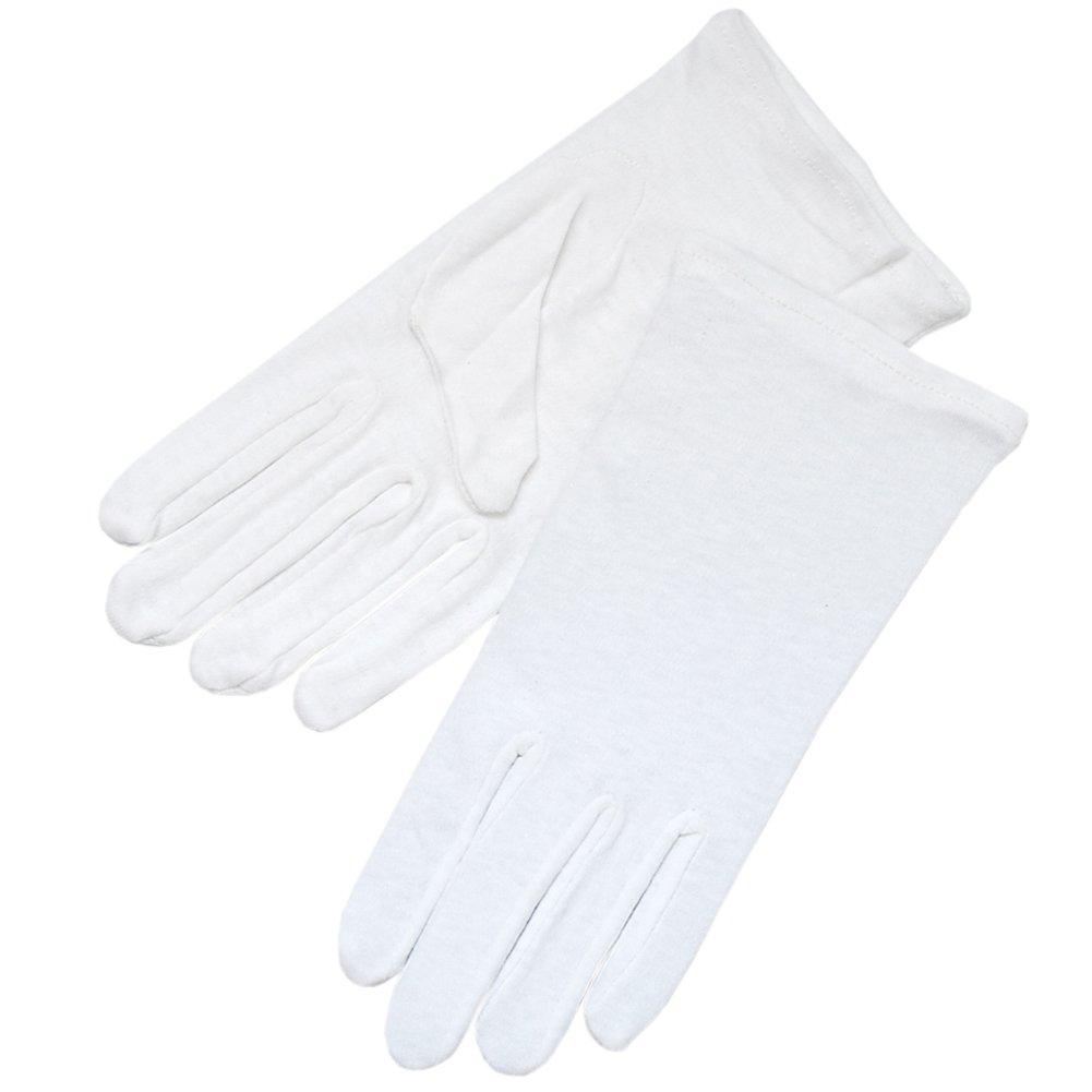ZaZa Bridal White 100% Cotton Girl's Gloves Half Dozen(6 Pairs) Pack