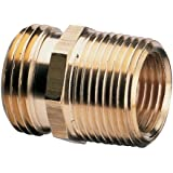 Nelson Brass Industrial Pipe and Hose Fitting for Female Hose to 3/4-Inch Female NPT or Female Hose to 1/2-Inch Male NPS, Double Male 50572
