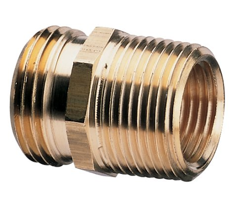 Nelson Brass Industrial Pipe and Hose Fitting for Female Hose to 3/4-Inch Female NPT or Female Hose to 1/2-Inch Male NPS, Double Male 50572 ()