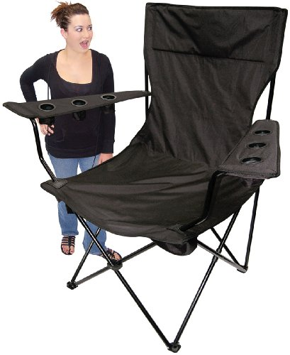 On The Edge 810169 Black No Logo Folding Kingpin Chair by On The Edge