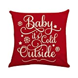 LENXH Red hug pillowcase Christmas pillowcase linen hug pillowcase fashion hug pillowcase printing hug pillowcase