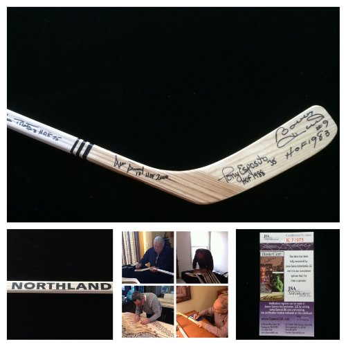 - Bobby Hull Tony Esposito Denis Savard Pierre Pilote Chicago Blackhawks Signed Autograph Northland Hockey Stick. JSA COA