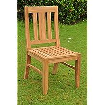 Grade-A Teak Wood Armless Dining Chair [Model: Osborne] #WFDCALOS