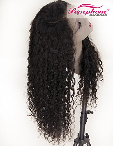 Persephone Real Looking Pre Plucked 360 Lace Wig with Baby Hair 150% Density Brazilian Curly Lace Front Human Hair Wigs for Black Women 14inches Natural Brown Color by Persephone Lace Wig (Image #4)