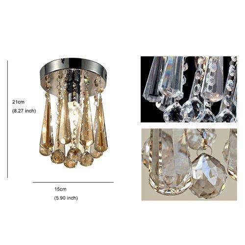 Edge To Ceiling light New design luxury crystal ceiling light, modern home ceiling light fixture embedded ceiling lighting