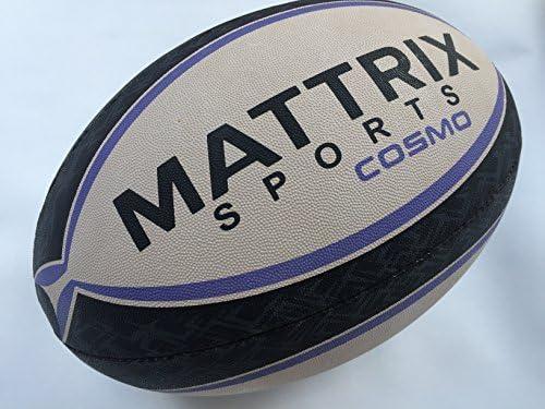 Mattrix Sports Rugby - Balón de entrenamiento (talla 5) Cosido a ...