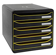 Exacompta Big Box Plus - Módulo de clasificación, color Noir/Pamplemousse/Noir