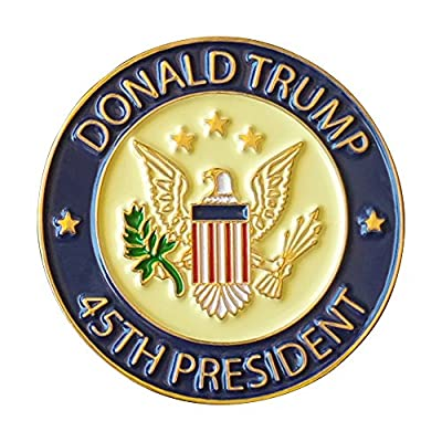 Donald Trump 45th President Lapel Pin Hat Tac - Trump Pin with USA Seal, Jewelry Metal, Full Color - Pack of 1 pin