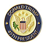 Donald Trump 45th President Lapel Pin Hat Tac - Trump Pin,Jewelry Metal, Pack of 1 Memorial Day White House Election