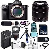 Sony Alpha a7S II a7S Mark II a7SII ILCE7SM2/B Mirrorless Digital Camera (International Model no Warranty) + Sony E-Mount SEL 18-55mm Zoom Lens (Black) + 49mm Filter Kit 6AVE Bundle 9
