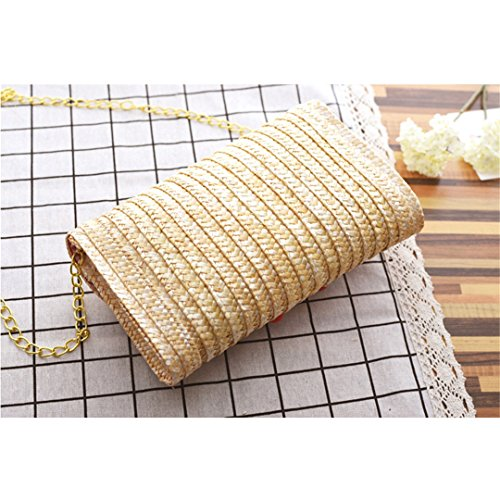 Mano Donna Ricamato Tridimensionale Di Ragazza Vimini Tessuto Paglia Solida Bag Delle Banane Borse A Mori q7w64wtx