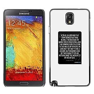 TopCaseStore / la caja del caucho duro de la cubierta de protección de la piel - White Text Inspiring Quote - Samsung Galaxy Note 3 N9000 N9002 N9005