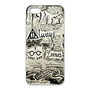 Diy Harry Potter Cell Phone Case, DIY Durable Cover Case for iPhone 5/5G/5S Harry Potter