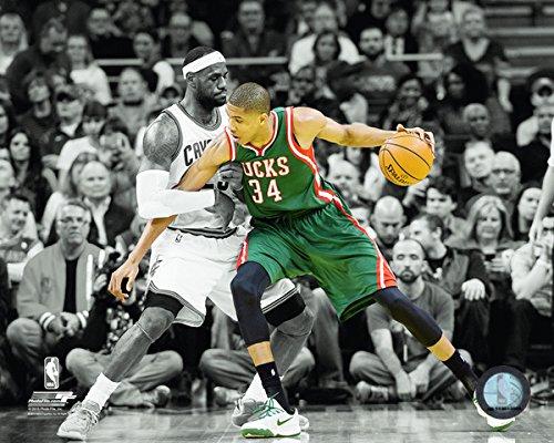 Giannis Antetokounmpo Milwaukee Bucks NBA Spotlight Action Photo (Size: 8