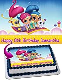 Shimmer and Shine Edible Cake Image Personalized Toppers Icing Sugar Paper A4 Sheet Edible Frosting Photo Cake Topper 1/4