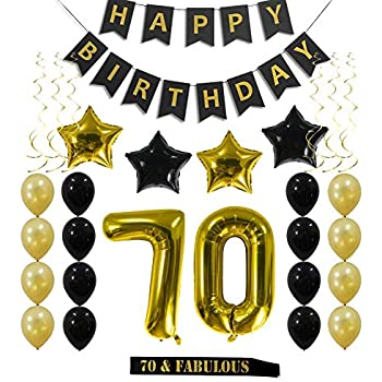 70th Birthday Decorations Party Supplies Gift For Men Women