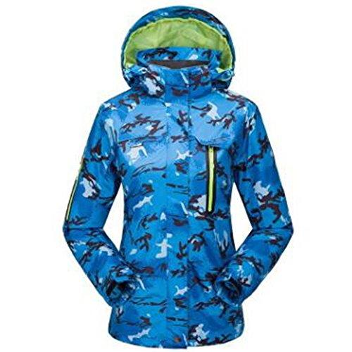 Camouflage Giacche Camping Outdoor Pezzi Warm Alpinismo Campeggio Da Liner Blu Plush Due Abbigliamento Triple Yx1E5qAw1d