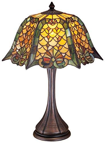 21 Inch H Duffner & Kimberly Shell & Diamond Table Lamp , Table Lamps , Meyda