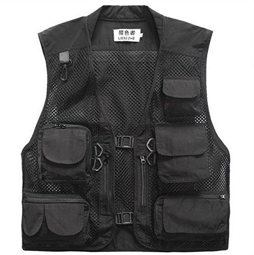 Multi-Tasche Mesh-Fotografie Angeln Vest Outdoor-Klettern Jacke