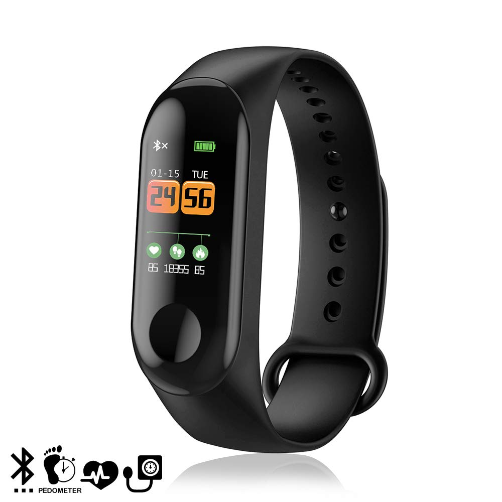 DAM DMZ055BK - Brazalete Inteligente Bluetooth 4.0, Color Negro