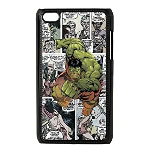 iPod Touch 4 Phone Case Black Marvel comic MHF9911976