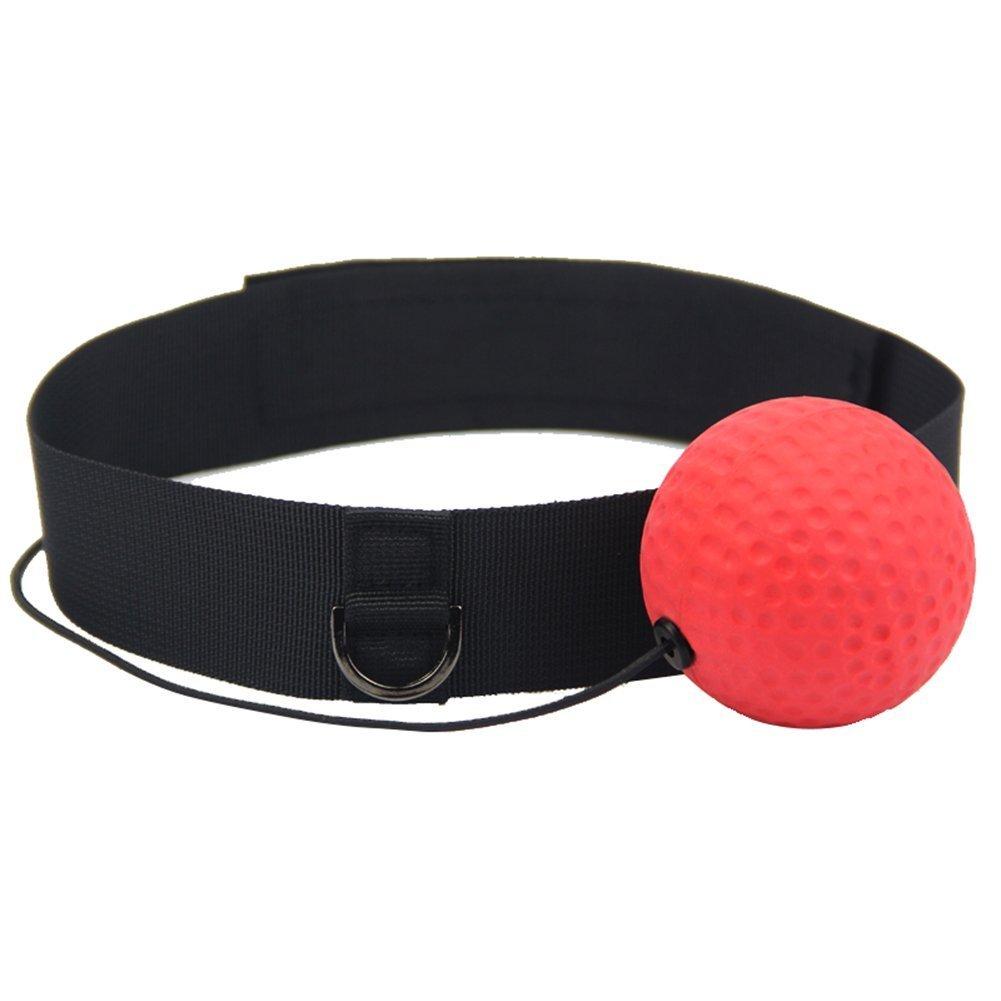hothuimin Reflex de boxe Boule sur corde avec arceau de boxe Reflex Fighting d'entraînement Speed Ball Bandeau # 21-bjq