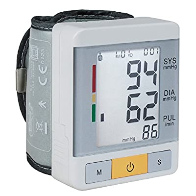 KEDSUM Wrist Digital Blood Pressure Monitor with 90 Memory Capacity ,Two User Modes ,FDA Certified