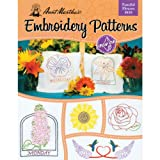 AUNT MARTHA's Fanciful Flowers Embroidery Transfer Pattern Book Kit