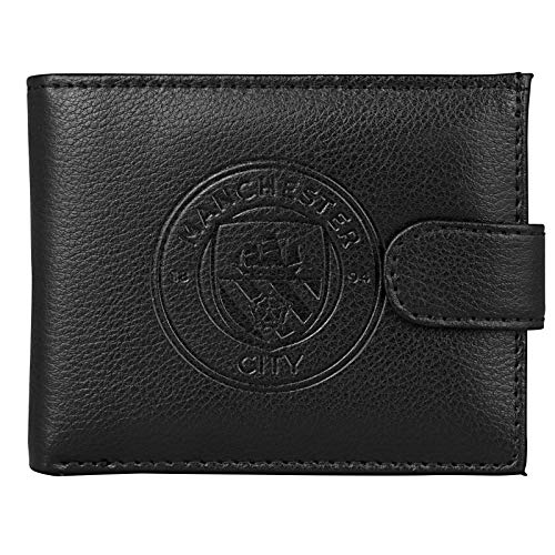 Manchester City FC Official Soccer Gift Boxed Leather Wallet Embossed Crest