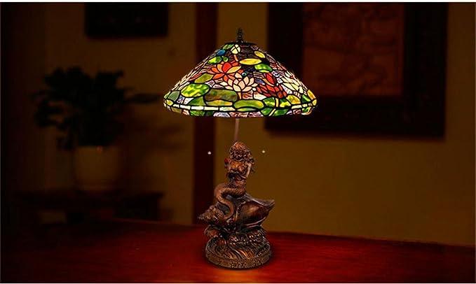 Lampadari E Plafoniere Tiffany : Lampada tiffany in stile europeo giardino gigli sirena