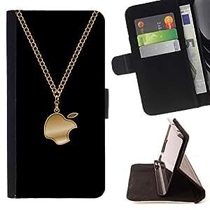 BullDog Case - FOR/HTC DESIRE 816 / - / Funny Bling Apple Jewellery /- Monedero de cuero de la PU Llevar cubierta de la caja con el ID Credit Card Slots Flip funda de cuer