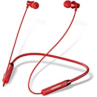 Lenovo HE05 in-Ear Wireless Bluetooth Neckband Headphone with Mic - (Red)