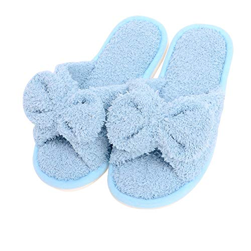 nice Women's Flip Flop, Cotton Soft Slide Flat House Slippers for Indoor Outdoor Grey free shipping