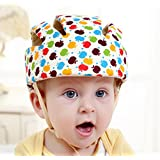 Ibepro Infant Baby Toddler Safety Helmet Kids Head Protection Hat for Walking Crawling baby Children Infant Adjustable Safety Helmet Headguard Protective Harnesses Cap - (Apple pattern)