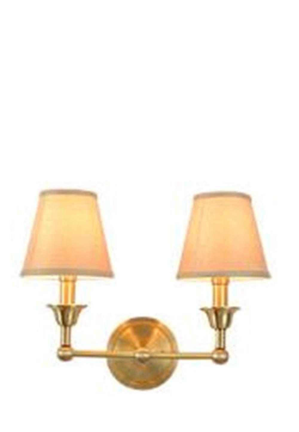 Wandleuchten Schlafzimmerwandlampe Reines Kupfer Einfaches Wohnzimmer Studie Gang Badezimmer Wandleuchte Ohne Glühbirne Doppelkopf