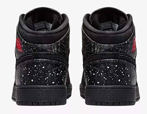 rush Rose white 1 Noir Jordan Multicolore Nike Blanc Chaussures black Air De 001 Mid black Fitness Femme gs Pink xPw6a