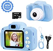 ASIUR Digital Camera for Kids, 1080P FHD Kids Digital Video Camera Child Camera with 16GB SD Card for 3-10 Yea