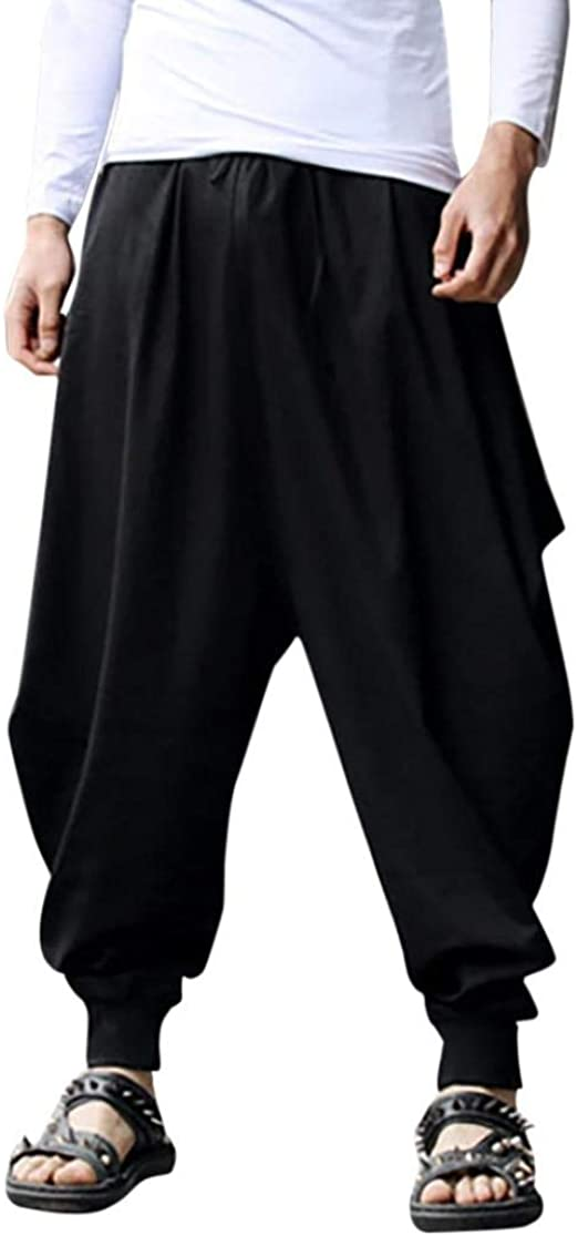 X-Future Mens Contrast Drawstring Hip Hop Athletic Casual Sweatpants Pants Trousers