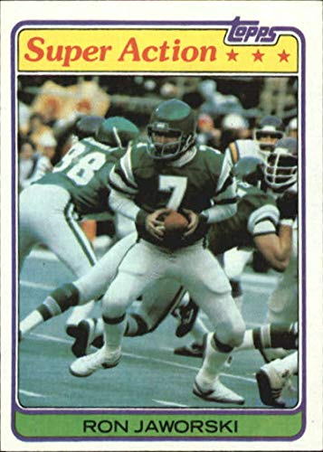 (1981 Topps #408 Ron Jaworski Eagles NFL Football Card NM-MT)