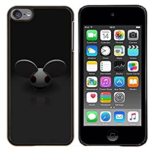 LECELL--Funda protectora / Cubierta / Piel For Apple iPod Touch 6 6th Touch6 -- Ratón Orejas grandes roedores personaje de dibujos animados lindo --