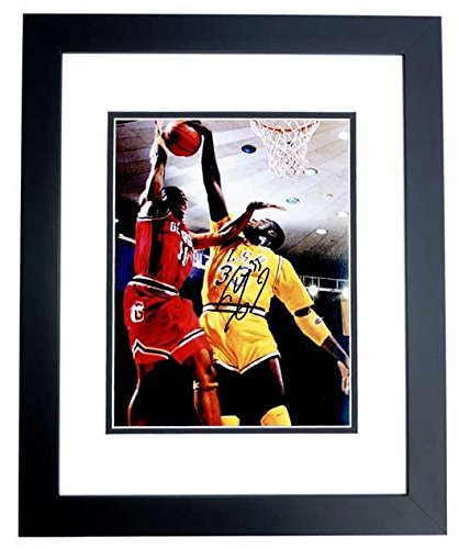 Shaquille O'Neal - SHAQ Signed - Autographed LSU Tigers 8x10 inch Photo BLACK CUSTOM FRAME - Guaranteed to pass or JSA - PSA/DNA Certified (Frame Shaquille Oneal)