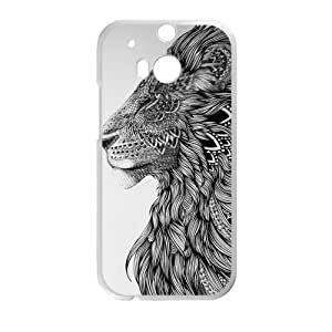 Canting_Good Lion Head black and white Custom Case Cover Shell for HTC One M8 (Laser Technology)