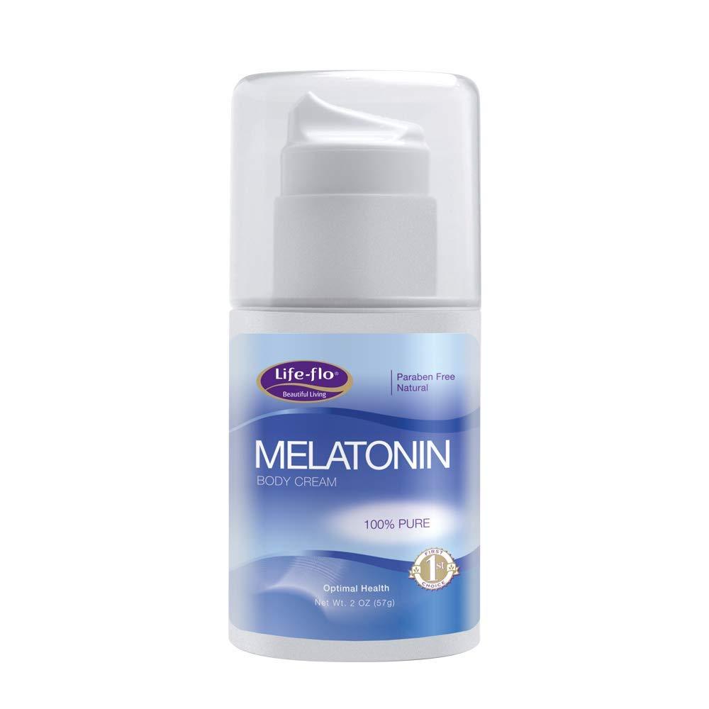 Life-Flo Melatonin Body Cream | Nighttime Relaxation Cream Soothes & Moisturizes Dry Skin |