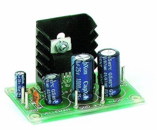 Velleman K4001 Mono Audio Amplifier, 7 W, Multi-Colour
