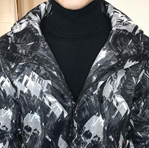 Fit Piumino Incappucciato Inverno Lunga Mens Loose Ttyllmao Stampa 1 Puffer Moda Manica vwUYSvqAx