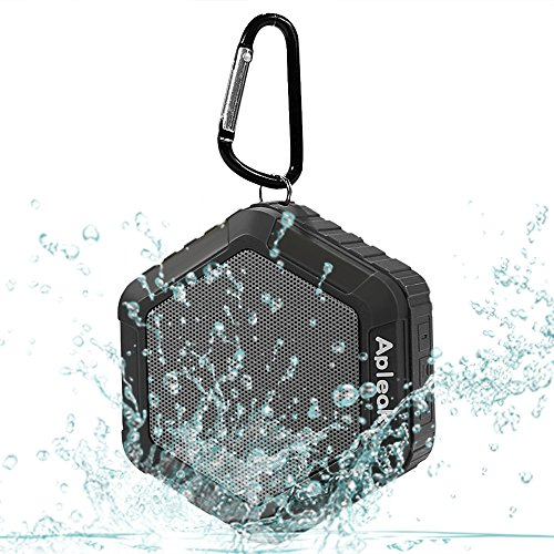 Apleok Portable Bluetooth Speaker, waterproof bluetooth 4.0 Speaker with IPX5 Waterproof Function and 12 Hours Playtime (Black)